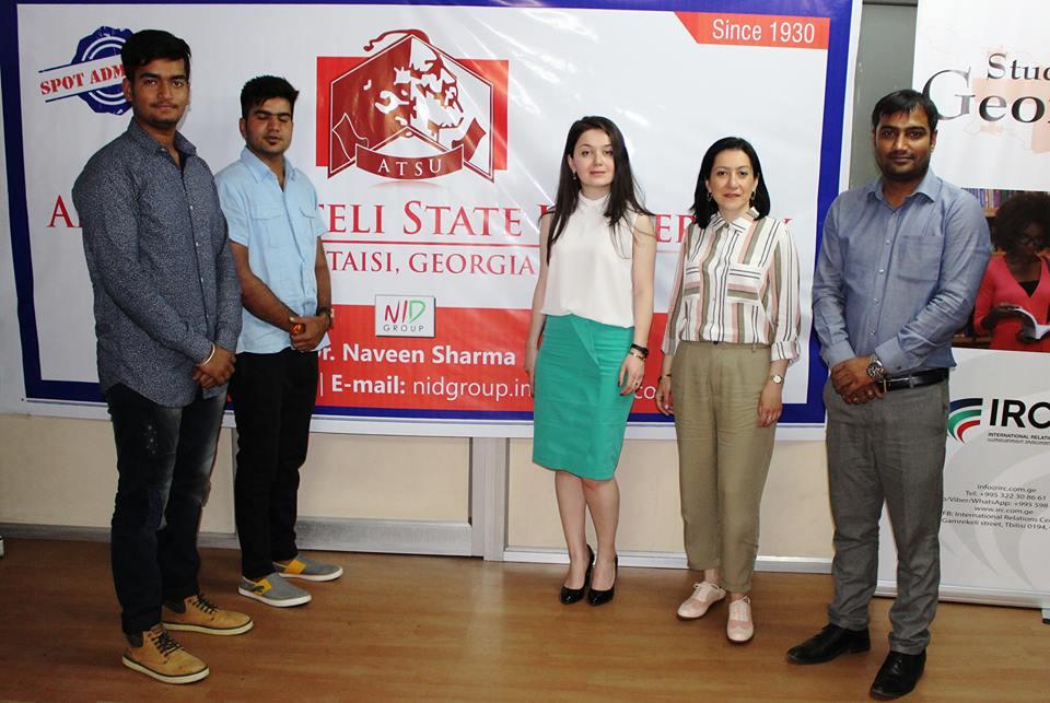 აკაკი წერეთლის სახელმწიფო უნივერსიტეტის გაცნობა ინდოელი სტუდენტებისთვის